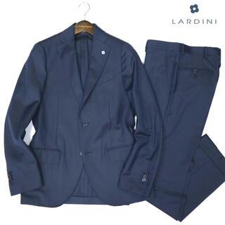 ビームス(BEAMS)のラルディーニ 15万最高級サマーウールモヘアシルクネイビーセットアップスーツ(テーラードジャケット)