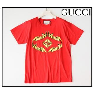 Gucci - 新品タグ付き【グッチ】レインボープリント Tシャツ 赤 XS(M相当)