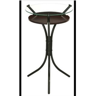 【DBR】ガラストップサイドテーブル/机/テーブル/スリム/軽量/(その他)