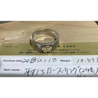 goro's - ローズ 平打ちリング 24号 ゴローズ デルタワン 購入