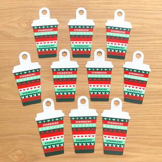 スターバックスコーヒー(Starbucks Coffee)のスターバックス クリスマス メッセージカード 10枚 タグ タンブラー スタバ(ノート/メモ帳/ふせん)