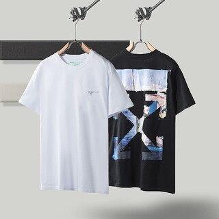 OFF-WHITE - 2枚8000円送料込みOFF WHITE Tシャツ 半袖 黒白 夏XS~L
