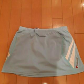 バボラ(Babolat)のバボラBabolaTテニスウエア スコートブルー水色レディースLサイズ(ウェア)
