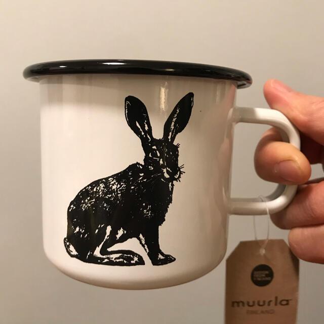 ARABIA(アラビア)のMuurla ムールラ ノルディック エナメルマグ 北欧 ウサギ柄 マグカップ インテリア/住まい/日用品のキッチン/食器(グラス/カップ)の商品写真
