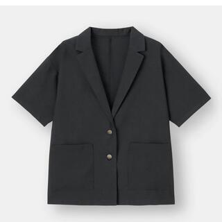 GU - GU  ライトオーバーサイズシャツジャケット(5部袖)
