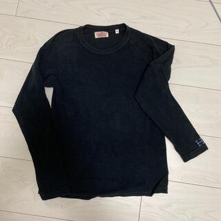 エヌハリウッド(N.HOOLYWOOD)のハリウッドランチマーケット 黒 ブラック 0 刺繍H水色(Tシャツ(長袖/七分))