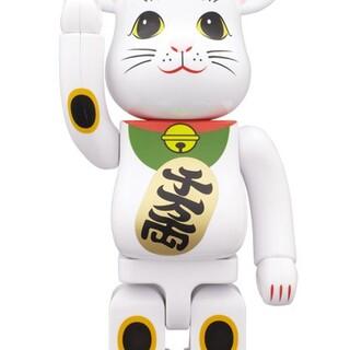 BE@RBRICK 招き猫 白メッキ 発光 400%(その他)