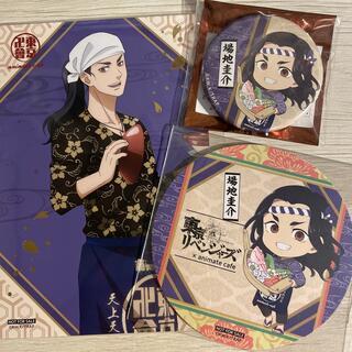 東京リベンジャーズ 場地圭介 缶バッジ コースター ポストカード