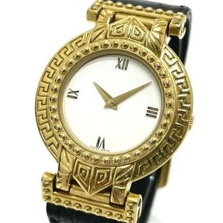 ジャンニヴェルサーチ(Gianni Versace)のジャンニ・ヴェルサーチ メデューサ メンズ腕時計 ゴールド(腕時計(アナログ))