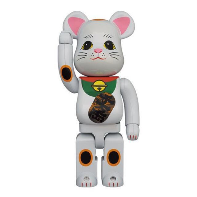 MEDICOM TOY(メディコムトイ)のBE@RBRICK 招き猫 白メッキ 発光 400% 2体セット 新品未使用 エンタメ/ホビーのフィギュア(その他)の商品写真