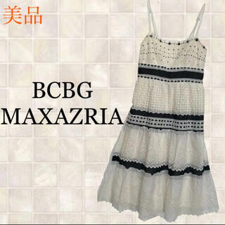 ビーシービージーマックスアズリア(BCBGMAXAZRIA)のBCBGMAXAZRIA ビーシービージーマックスアズリア美品 ワンピース  M(ロングワンピース/マキシワンピース)