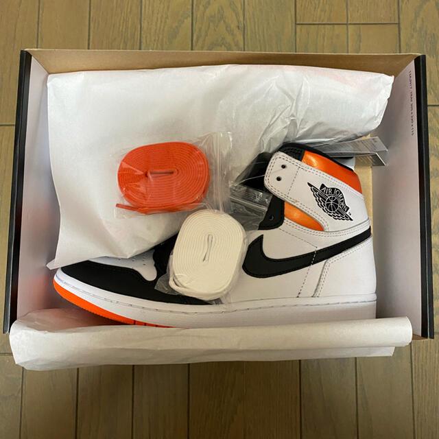 NIKE(ナイキ)のNIKE AIR JORDAN 1 Electro Orange US9 27 メンズの靴/シューズ(スニーカー)の商品写真