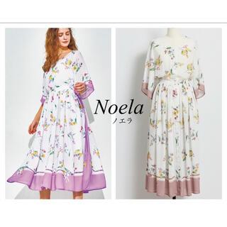 ノエラ(Noela)のNoela フラワースカーフ柄ロングワンピース(ロングワンピース/マキシワンピース)