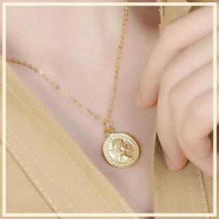 ゴールド コイン ネックレス チャーム ヴィンテージ アクセサリー 韓国