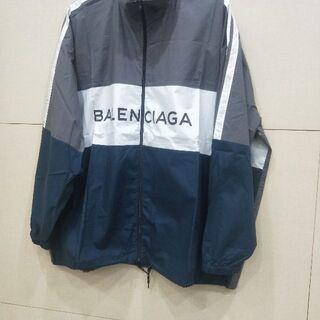 Balenciaga - BALENCIAGA   ジップアップロゴ   ナイロントラックジャケット