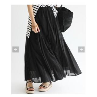 IENA - 美品 IENA コットボイルギャザースカート