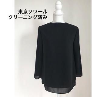 ソワール(SOIR)の東京ソワール ブラックフォーマル ブラウス クリーニング済み 9号 M(シャツ/ブラウス(長袖/七分))