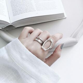 ☆即日発送☆シルバー リング☆指輪 フリーサイズ 2個