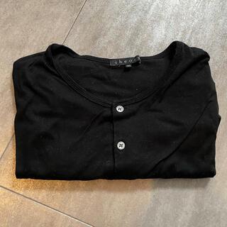セオリー(theory)のセオリー ブラック Tシャツ カットソー(Tシャツ/カットソー(半袖/袖なし))