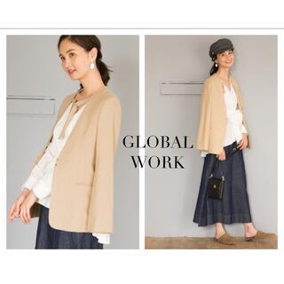 GLOBAL WORK - GLOBAL WORK カタカケVノーカラージャケット