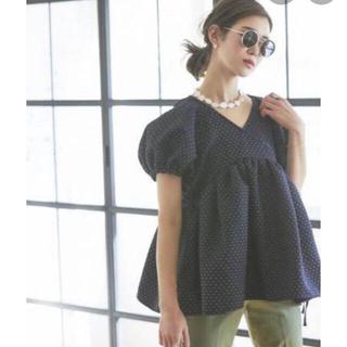 ドゥロワー(Drawer)のSeventen ラメジャガードカシュクールトップス 黒 ブラック(シャツ/ブラウス(半袖/袖なし))