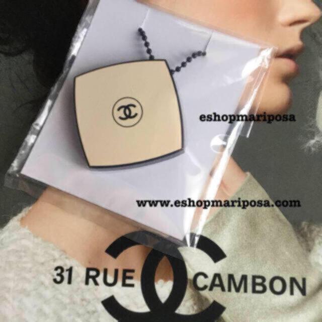 CHANEL(シャネル)のシャネル ミニミラーチャーム  レベージュ限定 キーホルダー、バッグチャームにも ハンドメイドのファッション小物(バッグチャーム)の商品写真