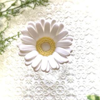 ガーベラ クレイフラワー ホワイト 造花(その他)