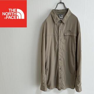 THE NORTH FACE - 希少☆ US規格 ノースフェイス ワークシャツ ナイロンシャツ ベージュ XL
