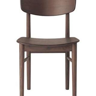 ムジルシリョウヒン(MUJI (無印良品))の未使用品 無印良品 ラウンドチェア ウォールナット材(テーブル/チェア)