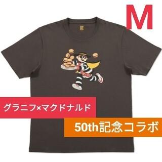 Design Tshirts Store graniph - マクドナルド グラニフ 限定コラボ Tシャツ ハンバーグラー チャコール  M