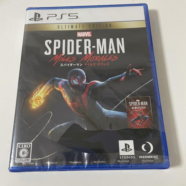 SONY(ソニー)のPS5 カセット スパイダーマンマイルズモラレス エンタメ/ホビーのゲームソフト/ゲーム機本体(家庭用ゲームソフト)の商品写真