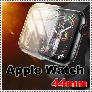 Apple Watch 44mm ケース カバー クリア 透明 シンプル 保護(その他)