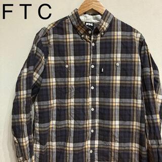 FTC - 【複数割】FTC エフティーシー 長袖ボタンシャツ チェック Lサイズ