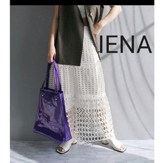 IENA - IENA イエナバテンレース フレアスカート ホワイト 白