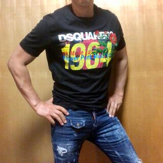 DSQUARED2 - 美品!ディースクエアード 2019SS ボタニカル柄プリントロゴ 半袖Tシャツ
