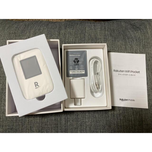Rakuten(ラクテン)のRakuten WiFi Pocket ルーター ホワイト スマホ/家電/カメラのスマホ/家電/カメラ その他(その他)の商品写真