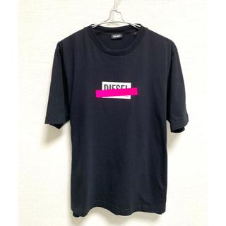 DIESEL - DIESELディーゼル 半袖Tシャツ 黒蛍光ピンク