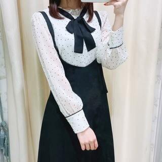 evelyn -  evelyn AnMILLE ベルト編み上げジャンパースカート