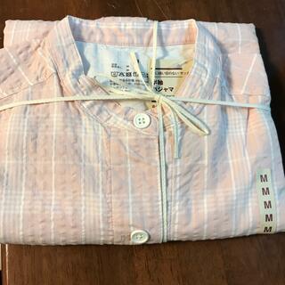 ムジルシリョウヒン(MUJI (無印良品))の脇に縫い目のない サッカー織り半袖パジャマ 7分丈パンツ婦人M・ピンク×柄(パジャマ)