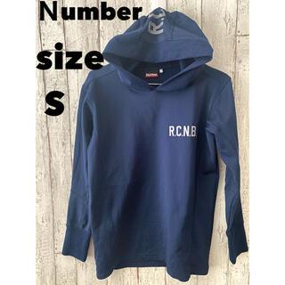 ナンバーナイン(NUMBER (N)INE)のnumber ナンバーイン トップス 長袖 薄手 スポーツレジャー 普段着 紺色(Tシャツ/カットソー(七分/長袖))