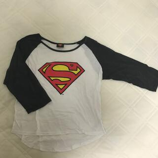 ウィゴー(WEGO)のスーパーマン7分丈Tシャツ(Tシャツ(長袖/七分))