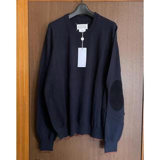 マルタンマルジェラ(Maison Martin Margiela)の21SS新品L メゾン マルジェラ エルボーパッチ ニット セーター濃紺(ニット/セーター)