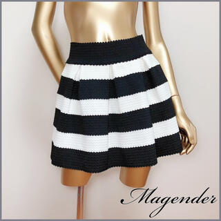 Magender - Magender パールビジュー ボーダー スカート*ジルスチュアート デイシー