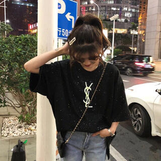 美品♣️オシャレ 綺麗モノグラム柄レディースTシャツ