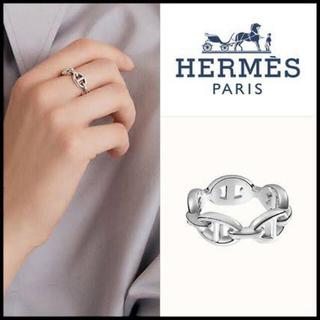 Hermes - HERMES アンシェネ シェーヌダンクル リング52 美品