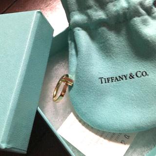 Tiffany & Co. - ティファニー Tワン リング K18RG   正規品 指輪 ローズゴールド