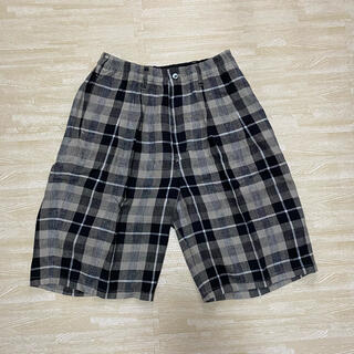 COOTIE - COOTIE Linen Check 2 Tuck Easy Shorts