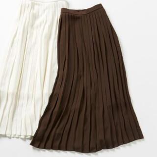UNIQLO - 【新品】UNIQLO シフォンプリーツロングスカート(丈短め75~79cm)