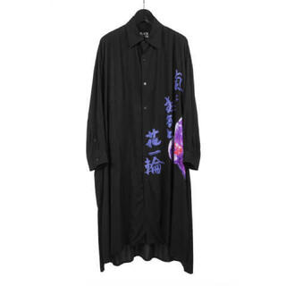 Yohji Yamamoto - 嵐と狂気と花一輪 ヨウジヤマモト ロングシャツ
