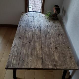 ジャコビアン ワックス仕上げ ローテーブル アンティーク 折りたたみ(ローテーブル)